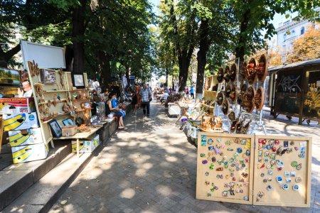 CHISINAU, MOLDOVA- AUGUST 21, 2014: Tourists and l...
