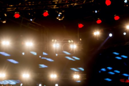 Photo for Defocused entertainment concert lighting on stage, bokeh. - Royalty Free Image