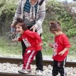 Idomeni, Greece - September 24 , 2015: Hundreds of...