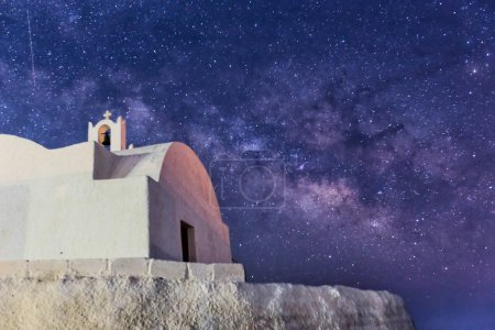 The Milky Way from Santorini island in Greece. Image taken with