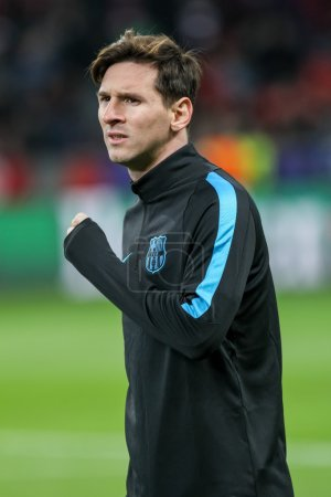 Lionel Messi during the UEFA