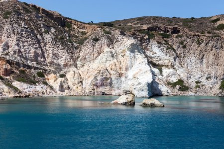 The picturesque beaches of Milos island, Cyclades, Greece