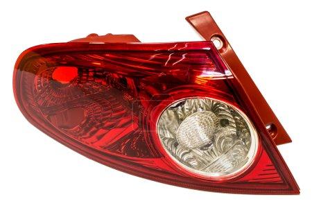 Photo pour Lanterne arrière de la voiture sur fond blanc - image libre de droit