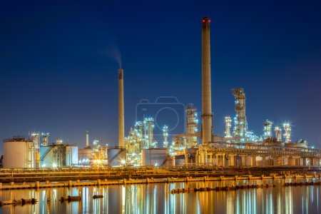 Photo for Oil refinery at twiligh - Royalty Free Image