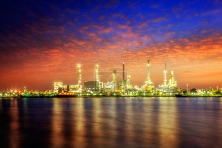 Photo for Oil refinery at twilight - Royalty Free Image
