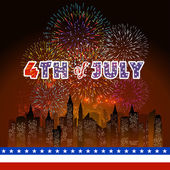 Happy Den nezávislosti 4.července s pozadím ohňostroj