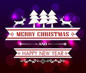 Vektorové Veselé Vánoce a šťastný nový rok card designメリー クリスマスと幸せな新年カード デザインをベクトルします。