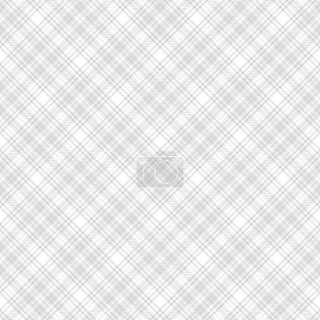 Illustration for White Chevron Plaid Tartan textured Seamless pattern design suitable for fashion textiles and graphics - Royalty Free Image