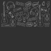 Vector doodle set Music and sound For any kind of design Hand drawn elements