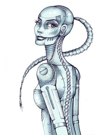 Stylish robotic girl