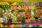 Fresh Fruit Stand at Municipal Market in Sao Paulo, Brazil