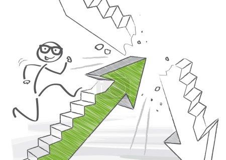 increase concept vector illustration