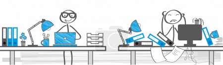 Illustration for Two Different Ways To Work - vector illustration - Royalty Free Image