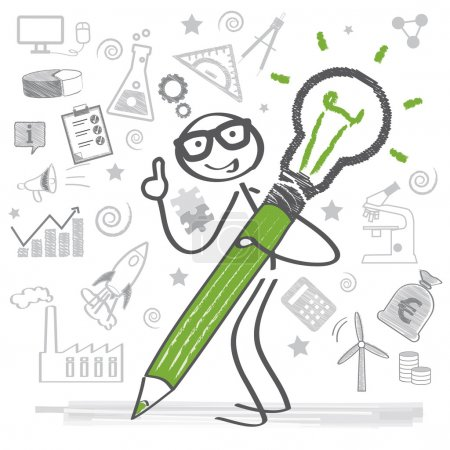 Illustration for Creativity and motivation lead to success - Royalty Free Image