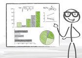 Businessman pointing at diagram