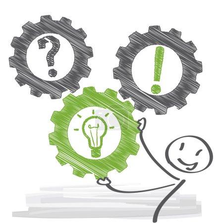 Illustration pour Problème et solution - illustration vectorielle - image libre de droit