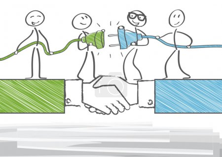 Illustration for Group of business people working together - Royalty Free Image