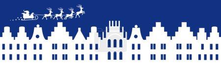 Illustration for Winter christmas banner blue color vector illustration - Royalty Free Image