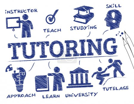 tutoring concept vector illustration