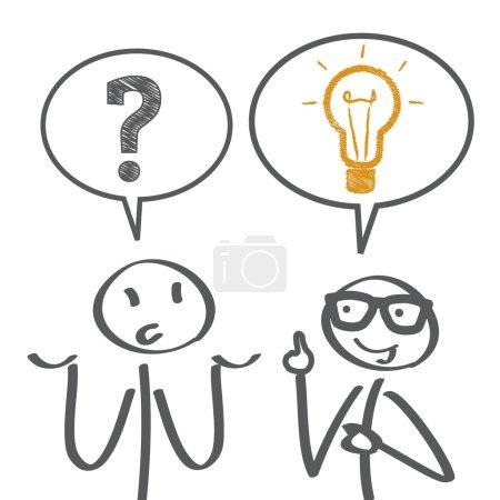 Illustration for Problem solving - vector illustration - Royalty Free Image
