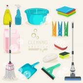 Cleaning kit icons Supplies