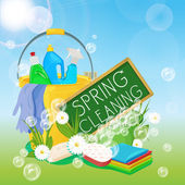 Spring cleaning kit icons