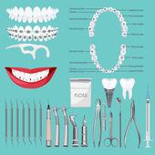 Dental care symbols.