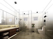 Abstraktní skica design interiéru koupelen