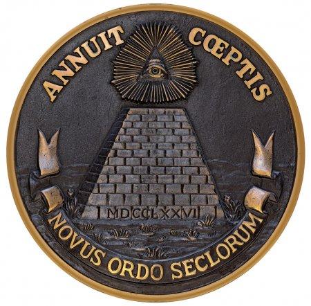 Photo pour Face arrière bronze du grand sceau - image libre de droit