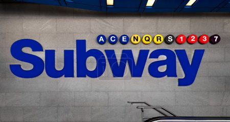 external information and advertising signboard subway