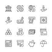 Financovat iconset tenká čára 1