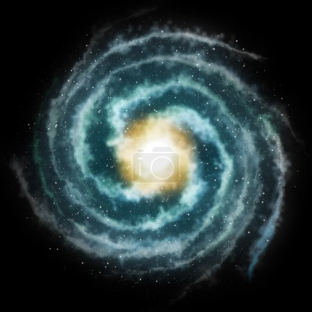 Photo for Universe spiral galaxy rendering - Royalty Free Image