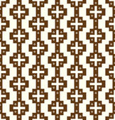 Brown Vintage Plus Symbol and Flower Pattern on Pastel Backgroun