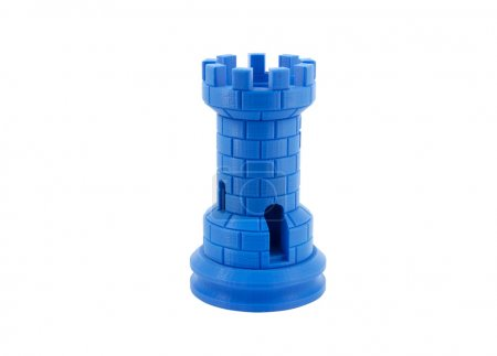 Photo for 3D Printed Model Of A Castle Isolated On White Background - Royalty Free Image