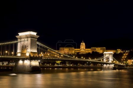 Chain Bridge And Buda Castle, Budapest, Hungary