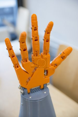 Photo for Robotic Hand Printed With 3D Printer - Royalty Free Image