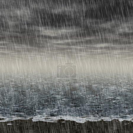 Photo pour Résumé paysage pluvieux généré embauche arrière-plan - image libre de droit