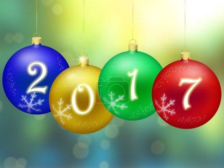 Photo pour Bonne année 2017 - image libre de droit