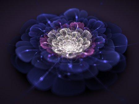 Photo for Fractal flower generater texture - Royalty Free Image