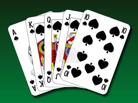 Poker hand - Royal flush spade