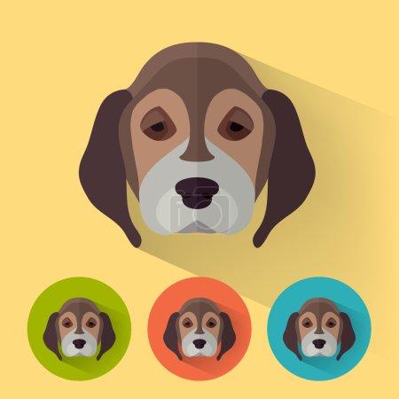 Animal Portrait with Flat Design - Dog