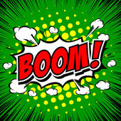 Boom! Comic Speech Bubble Cartoon art and illustration vector file