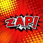Zap! Comic Speech Bubble Cartoon