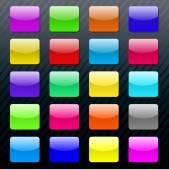 Vector glossy button icon