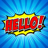 Hello! Comic Speech Bubble Cartoon art and illustration vector file