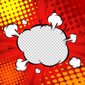 Comic Speech Bubble template Cartoon illustrator EPS 10