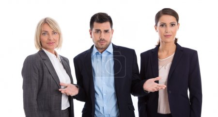 Gender equality concept: team of female and male business people