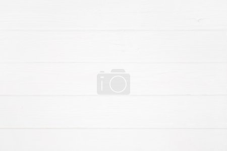 White wooden background or plank.
