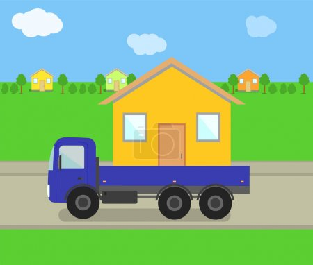 Vector Trailer with House...