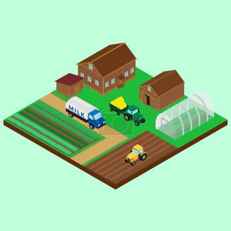 The yard of a farm - house
